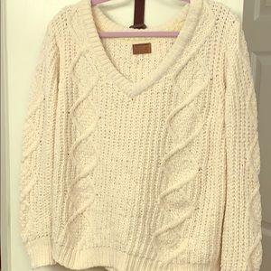 White, knit sweater